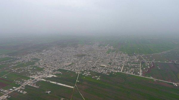 Teröristlerden arındırılan Tel Rıfat havadan işte böyle görüntülendi