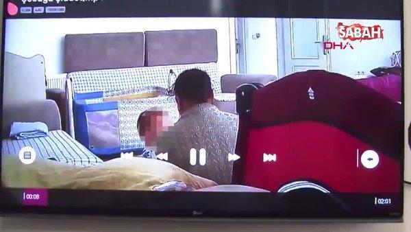 Çocuklarının hareketlerinden şüphelenen çift, kamera kayıtlarıyla şok oldu | Video
