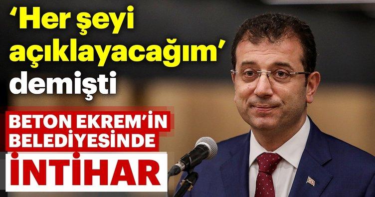 Ekrem İmamoğlu'nun belediyesinde intihar şoku