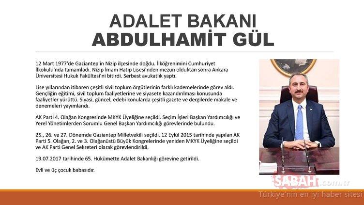 İşte Başkan Erdoğan'ın yeni kabinesindeki isimler