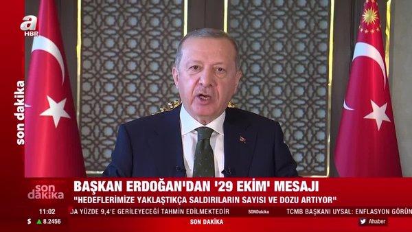 Son dakika: Cumhurbaşkanı Erdoğan'dan 29 Ekim mesajı! | Video
