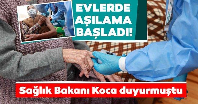 Son dakika haberi | Sağlık Bakanı Fahrettin Koca duyurmuştu: Evde aşılama başladı...