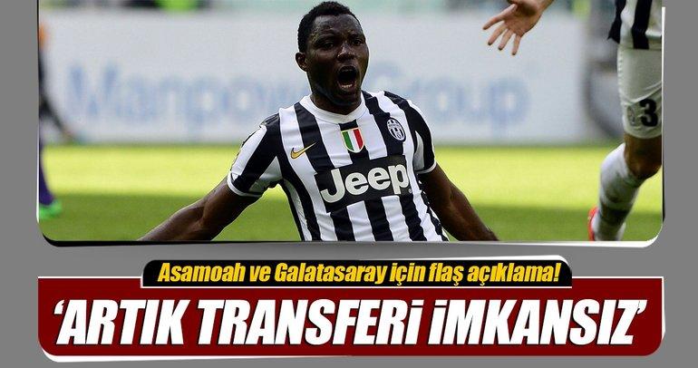 Cenk Ergünden flaş Asamoah sözleri: Transferi imkansız!