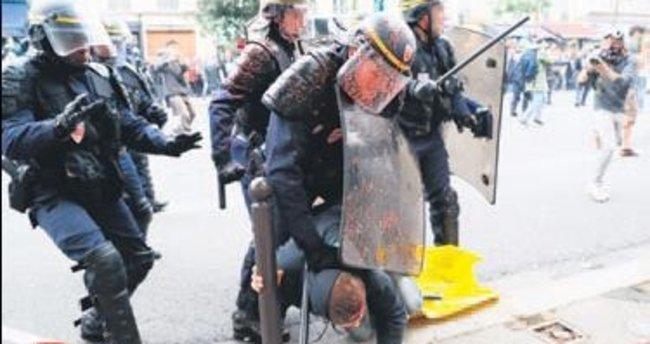Fransız polisi yine acımadı