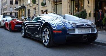 Uzaktan görenler Bugatti Veyron sandı! Ama araç yakına gelince işin gerçeği ortaya çıktı