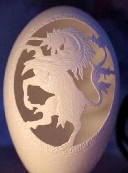 Yumurta kabuğundan sanat eserine