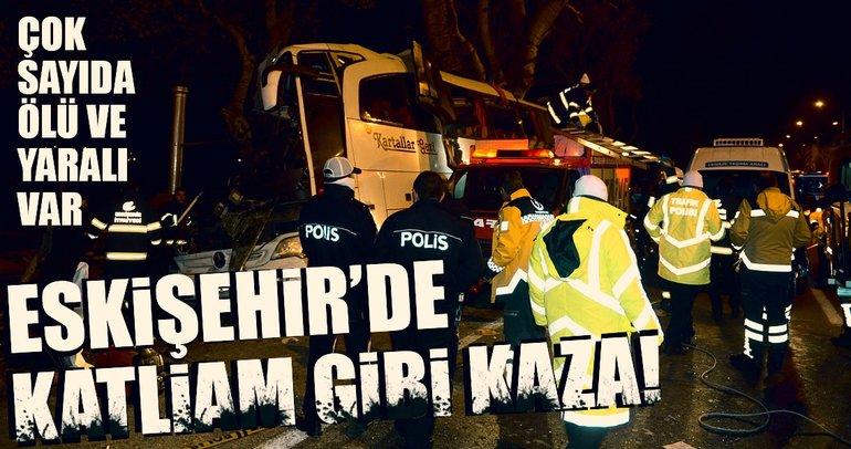 Eskişehir'de katliam gibi kaza!