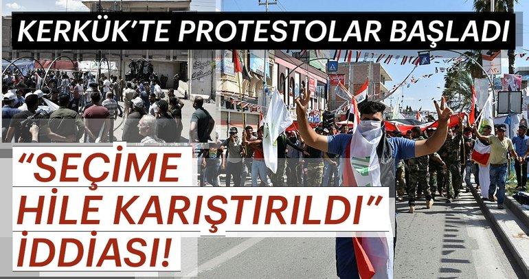 Kerkük'te Türkmenlerden seçim protestosu