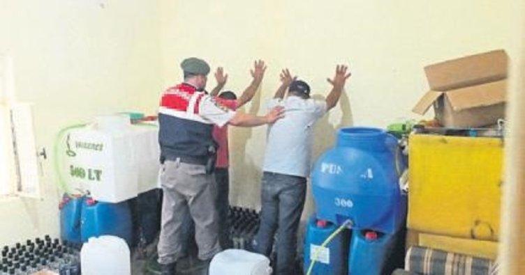 Jandarmadan sahte içki operasyonu