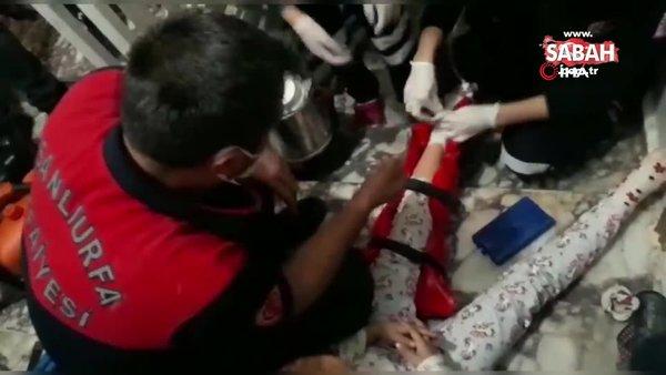 Şanlıurfa'da ayağı asansöre sıkışan çocuk kurtarıldı | Video