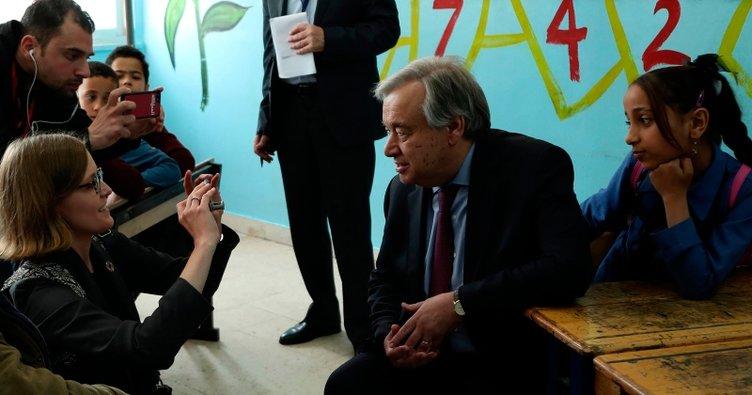 BM Genel Sekreteri Guterres'ten Ürdün'deki Beka kampına ziyaret