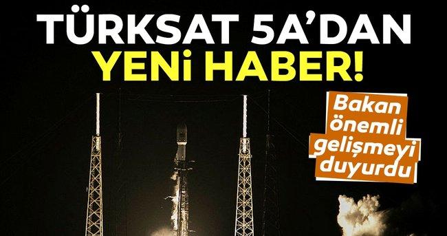 Son dakika haberi! Bakan Karaismailoğlu'ndan Türksat 5A açıklaması: Yörünge yükseltme operasyonları başlatıldı...