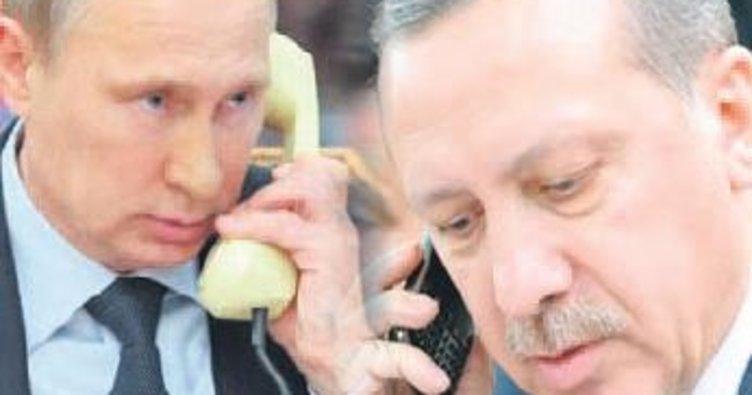 Erdoğan, Putin'le Katar'ı görüştü