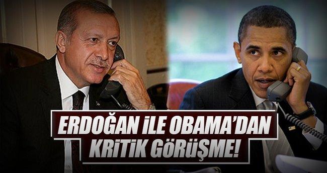 Cumhurbaşkanı Erdoğan ile Obama'dan kritik görüşme!