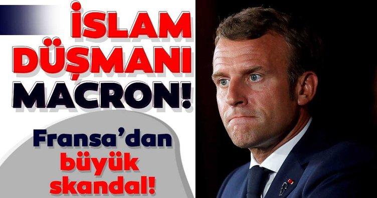 Müslümanları hedef almıştı! İslam düşmanı Macron'dan bir skandal daha...