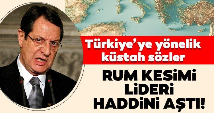 Rum Kesimi lideri Anastasiadis haddini aştı! Küstah Türkiye sözleri...