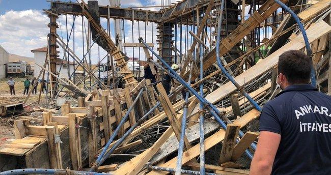 Son dakika: Ankara'daki inşaatta göçük: 1 işçi öldü!