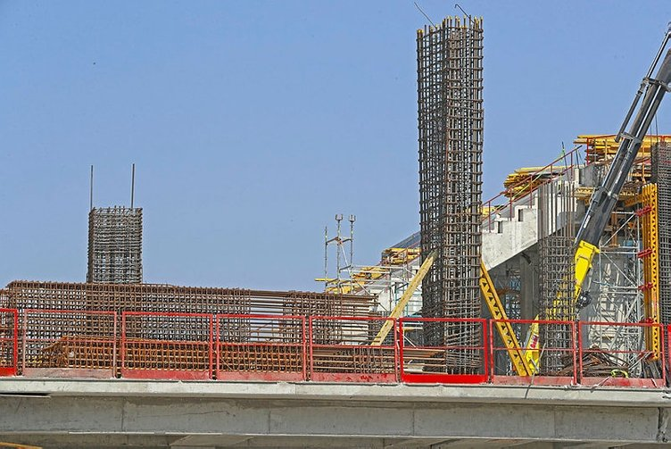Göztepe'nin yeni stadı yükseliyor