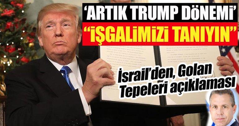 İşgalci İsrail'in bakanından Golan Tepeleri açıklaması