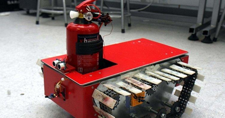 Yangınla mücadele robotu geliştirildi!