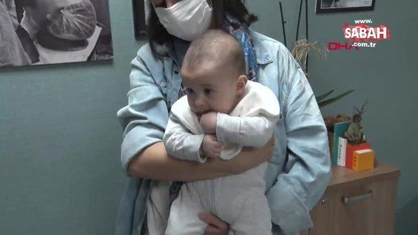 İstanbul'da doğuma korona pozitif giren Selma Yeşilova'nın negatif doğan bebeği kamerada