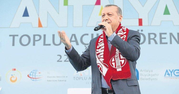 Cumhurbaşkanı Erdoğan bugün Batı Akdeniz'de