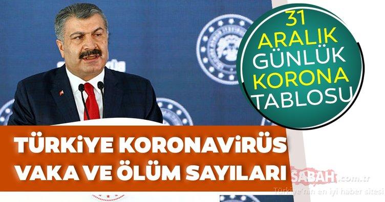 Sağlık Bakanı Fahrettin Koca son dakika açıkladı!31 Aralık koronavirüs tablosu ile Türkiye'de koronavirüs vaka sayısı verileri...