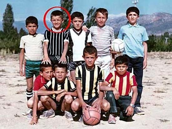 Futbolcuların çocukluk halleri