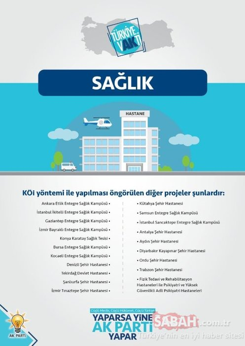 Erdoğan tarihi projeleri açıkladı