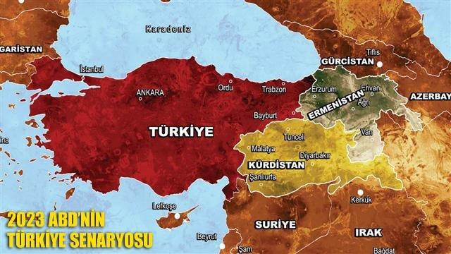 ABD'nin 2023 Türkiye haritası Planı