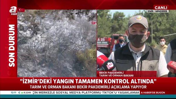 Son Dakika: Tarım ve Orman Bakanı Bekir Pakdemirli'den orman yangınları hakkında flaş açıklama: 1 gözaltı! | Video