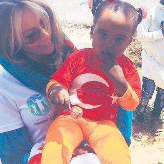 Somalili çocuklarla bayram