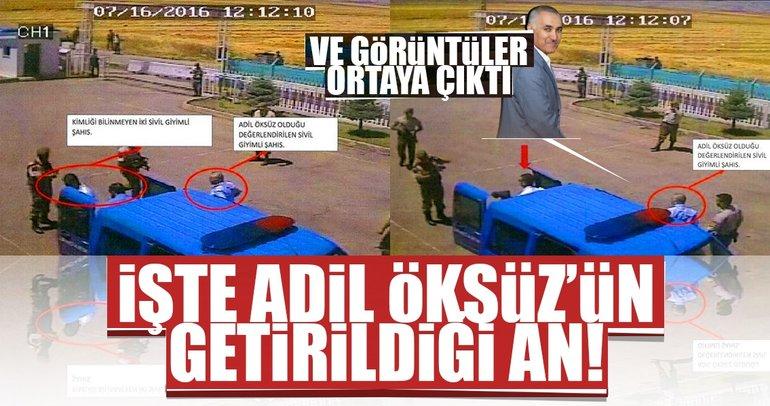 Adil Öksüz'ün jandarma karakoluna getirildiği görüntüler ortaya çıktı