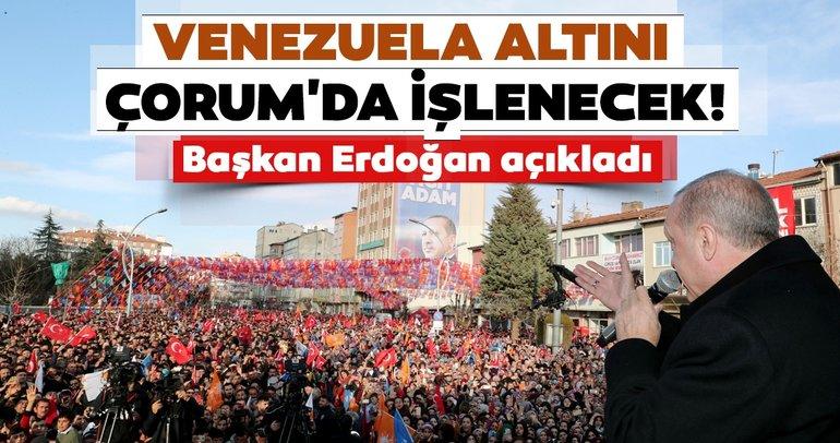 Başkan Erdoğan'dan Çorum'da önemli açıklamalar