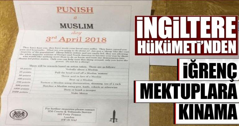 İngiltere'de Müslümanlara gönderilen İslamofobik mektuplar