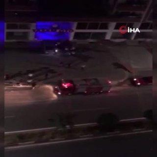 Siirt'te park halindeki araç yandı