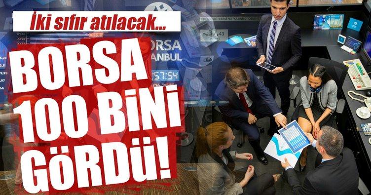 Ve Borsa İstanbul 100 bini gördü!