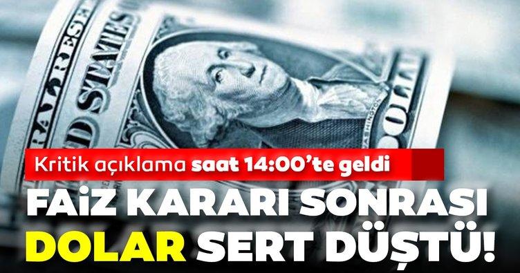 SON DAKİKA HABERLERİ | Dolar kuru Merkez Bankası'nın faiz kararı ile sert düştü!
