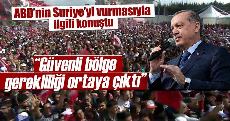 Cumhurbaşkanı Erdoğan'dan son dakika 'Güvenli bölge' açıklaması
