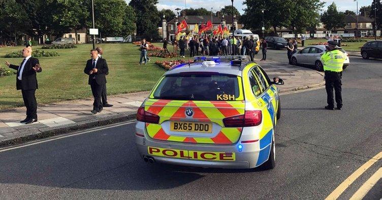 İngiltere'de terör örgütü PKK yandaşlarından provokatif eylem!