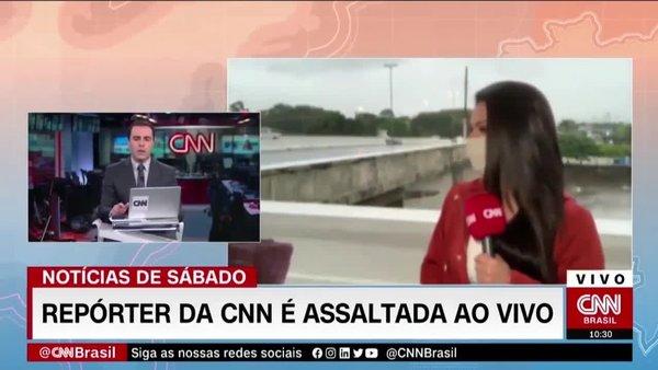 Kadın muhabirin canlı yayında gasp edildiği anlar kamerada | Video