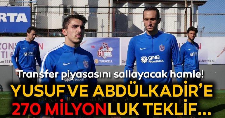 Lille'den Trabzonsporlu Yusuf Yazıcı ve Abdülkadir Ömür'e 270 milyon!