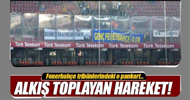 Fenerbahçeli taraftarlardan alkış toplayan hareket