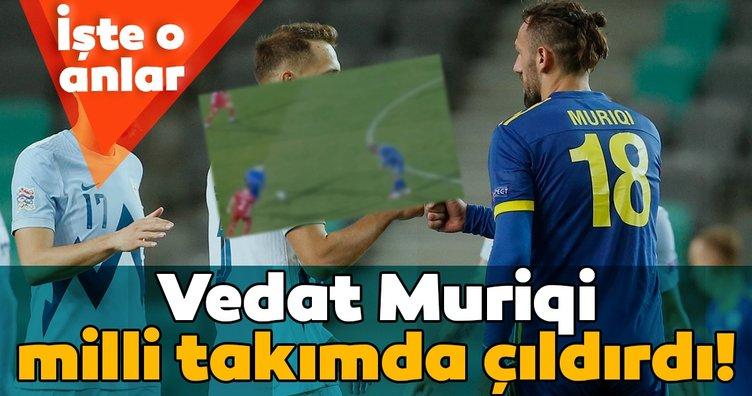 Fenerbahçe'nin eski yıldızı Vedat Muriqi Kosova Milli Takımı'nda çıldırdı!