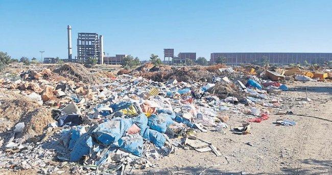SEKA arazisi çöplük oldu