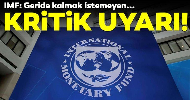 IMF'den bankalara kritik uyarı! Geride kalmak istemeyen...