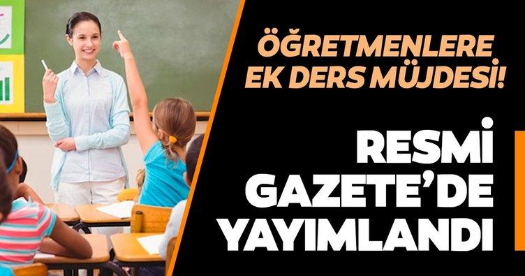 Son dakika: Öğretmenlere müjdesi! Resmi Gazete'de yayımlandı!