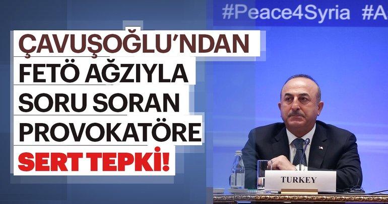Çavuşoğlu'ndan FETÖ ağzıyla konuşan gazeteciye sert tepki!
