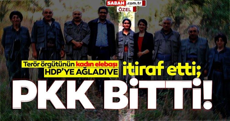 Son dakika... PKK'lı kadın yöneticiden itiraf: Sıkıştık!