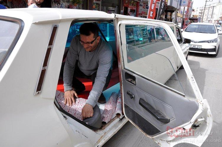 Osmaniyeli genç, 1978 model otomobili limuzine çevirip gelin arabası yaptı